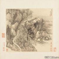清代著名画家王翚仿巨然涧水空山道图册页图片