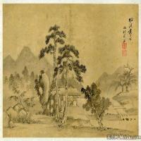 清代著名画家王翚山水册页图片
