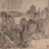 清代画家王时敏古画山水风景图片