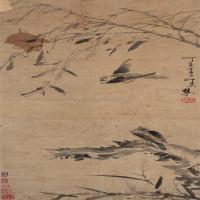 明末清初画家朱道明(牛石慧)绘画作品