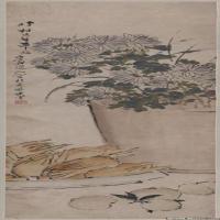 清代著名画家虚谷立轴作品