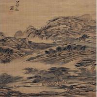 清代画家王概山水立轴图片