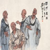 吕凤子高清国画作品图片