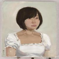 (3)水粉人物美院艺考人物半身像头像高清高清图片