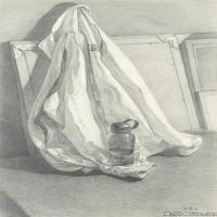 (4)素描静物美考优秀试卷艺考高分卷铅笔画美术生作品图片(4)