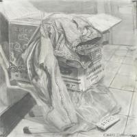 (7)素描静物美考优秀试卷艺考高分卷铅笔画美术生作品图片