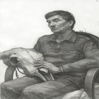 (3)素描半身艺考美考高分素描男性半身作品高清图片