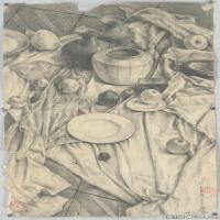 (6)素描静物美考优秀试卷艺考高分卷铅笔画美术生作品图片