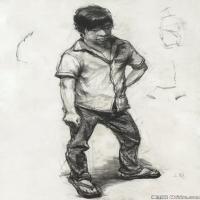 (7)人物速写高考人物速写考题模拟作品高清作品
