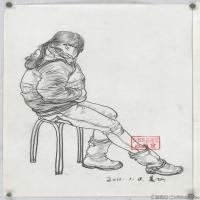 (3)人物速写高考人物速写品美术高考模拟题