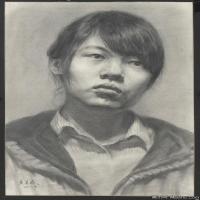 (2)素描头像美术高考素描女性优秀高清图