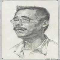 (2)素描头像美术高考素描男性优秀高清图