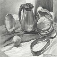 (8)素描静物美考优秀试卷艺考高分卷铅笔画美术生作品图片