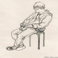 (5)人物速写高考人物速写品美术高考模拟题