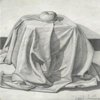 (9)素描静物美考优秀试卷艺考高分卷铅笔画美术生作品图片