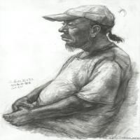 (7)素描半身艺考美考高分素描男性半身作品高清图片