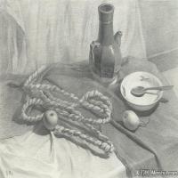 (3)素描静物美考优秀试卷艺考高分卷铅笔画美术生作品图片(3)
