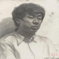 (1)素描半身艺考美考高分素描男性半身作品高清图片