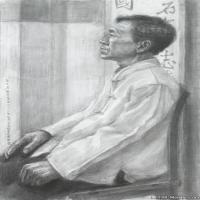(2)素描半身艺考美考高分素描男性半身作品高清图片