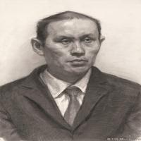 (6)素描半身艺考美考高分素描男性半身作品高清图片