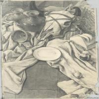 (2)素描静物美考优秀试卷艺考高分卷铅笔画美术生作品图片(2)