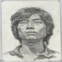 (4)素描頭像美術高考素描男性優秀高清圖