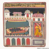 (2)印度美术印度画异域文化高清晰图片