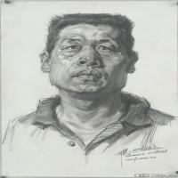 (5)素描頭像美術高考素描男性優秀高清圖