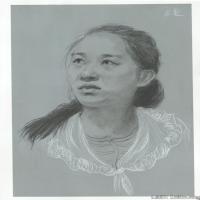 (1)素描头像美术高考素描女性优秀高清图