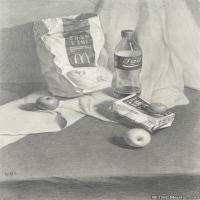(5)素描静物美考优秀试卷艺考高分卷铅笔画美术生作品图片