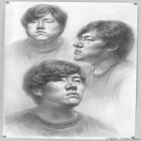 素描头像美术高考素描多角度优秀高清图
