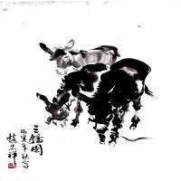 赵忠祥高清国画水墨作品图片