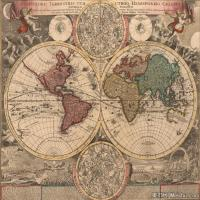 (23)地图装饰画图片