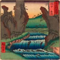 浮世绘(14)日本风景山水近现代高清图片