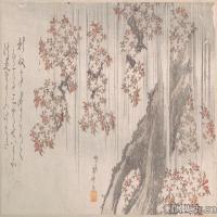 戏画植物(6)日本浮世绘近现代高清图片