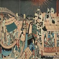 日本屏风(19)组合人物近现代高清图片