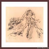 抽象人物国外素描高清图片