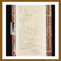 工笔线稿(4)古人手绘画稿线描研究图片高清图