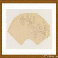工笔线稿(3)古人手绘画稿线描研究图片高清图
