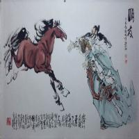 乔洪奎水墨人物动物绘画作品(1)