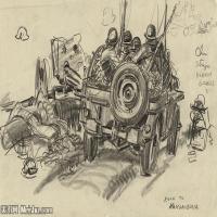 (28)战争素描欧美风格印刷电子文件图片图档图库下载