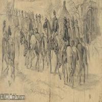 (43)战争素描欧美风格印刷电子文件图片图档图库下载
