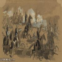 (30)战争素描欧美风格印刷电子文件图片图档图库下载