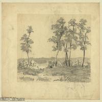 (9)风景野外素描高档喷绘印刷欧美图片资源文件