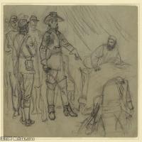 (18)战争素描欧美风格印刷电子文件图片图档图库下载