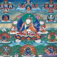 古代唐卡(5)老唐卡-佛画-佛教-神像图