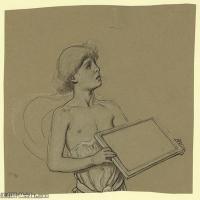 人物身像(8)素描欧美风格印刷电子文件图片