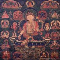 古代唐卡(7)老唐卡-佛画-佛教-神像图