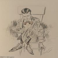 人物身像(20)素描欧美风格印刷电子文件图片