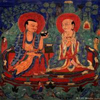 古代唐卡(4)老唐卡-佛画-佛教-神像图